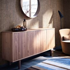 STOCKHOLM sideboard in walnut veneer