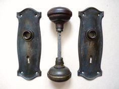 1900's Arts and Crafts Antique Door Knobs and by SquirrelMidden