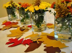 Simple kid assisted centerpiece idea via 'Young House Love'