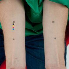 Tattoo Lust: Graphic Design Tattoos | Fonda LaShay // Design → more ...