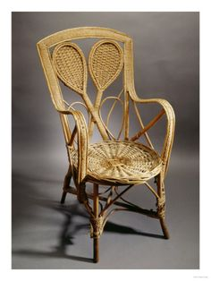 Wow that's some craftsmanship! A Wicker Tennis Chair, Circa the Back Modelled as a Pair of Crossed Lawn Tennis Rackets Giclee Print Lawn Tennis, Tennis Tips, Wimbledon Strawberries And Cream, Rattan, Wicker, Tennis Shop, Tennis Pictures, Tennis Serve, Wimbledon Tennis