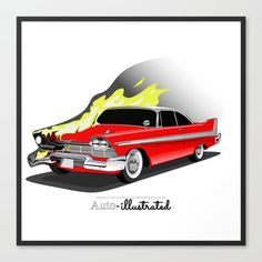 News & Discussion about Major Motion Pictures. Stephen King Tattoos, Chevy, Stephen King Movies, Car Tattoos, Plymouth Fury, Horror Monsters, Horror Movie Posters, Mustang Cars, Creature Feature