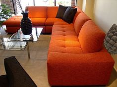Orange couch... yes please!