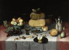 / Still Life with Cheese, Floris van Dijck Rijksmuseum, Amsterdam. Fruit Painting, Painting Prints, Fine Art Prints, Canvas Prints, Paintings, Women Artist, Cheese Art, Dutch Still Life, Still Life Fruit