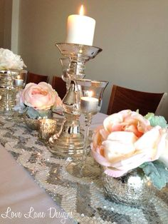 Glamorous table settings thanks to Love Lane Designs. Timeless Elegance, Special Day, Candle Holders, Table Settings, Candles, Table Decorations, Elegant, Wedding, Design