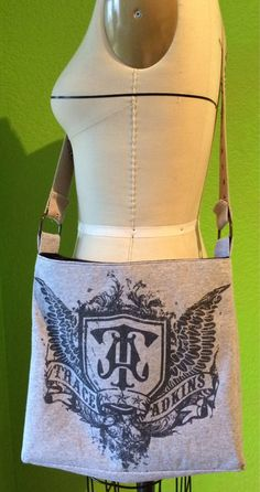 Trace Adkins Crossbody Upcycled Tshirt Purse by reCULTIVATE