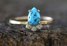 Turquoise + Diamond Arc Ring                                     – Alexis Russell