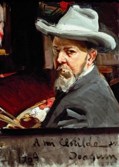 Self portrait: Sorolla