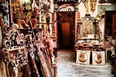 inside the work shop  in Florence