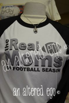 real moms of football season vintage sports mom t shirt