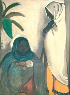 """oncanvas: """" Two Women, Amrita Sher-Gil, 1936 Oil on canvas 74 x 100 cm x in.) National Gallery of Modern Art, New Delhi, India """" Amrita Sher Gil, Galerie D'art Moderne, National Gallery, Gallery Of Modern Art, Art Studies, Art Google, Oil On Canvas, Instagram, Prints"""