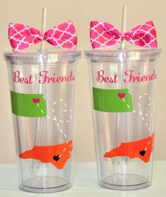 Best Friend State tumbler. 16 ounce cups. by SimplyStunningSite, $12.00