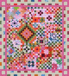 Forum Farbstoff: Block of the month sampler (in German, but the pictures are helpful)