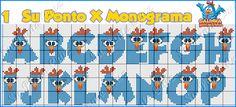 Olá!  Essa galinha azul nunca sai de moda!    Aqui o gráfico e os 2 monogramas que usei               Para conhecer o blog da Suellen cliqu...