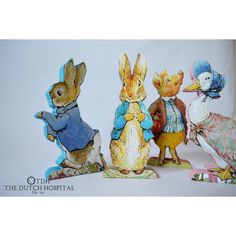 Easter Bunny Peter Rabbit Free Standing MDF Figures Beatrix Potter... ($16) ❤ liked on Polyvore featuring home and children's room