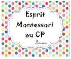 Esprit montessori en cP