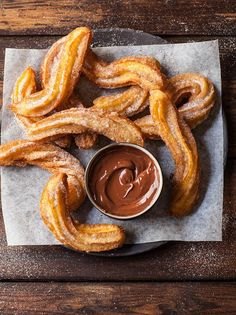 Churros with espresso chocolate sauce | DrizzleandDip.com