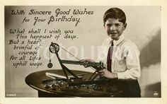 Meccano birthday postcard 1930.