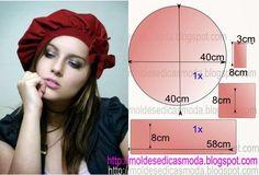 BOINA FEMININA-1 ~ Moldes Moda por Medida