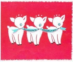 Season's Greetings Adorable Baby Deer Merry by EphemeraObscura, $4.50