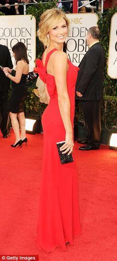 Stacy Keibler red dress Golden Globes 2012