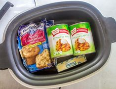 Crock Pot Apple Dump Cake is made with Apple Cinnamon Muffin Mix, canned apple pie filling and melted butter. Apple Crockpot Recipes, Crockpot Apple Dump Cake, Apple Dump Cakes, Crockpot Dessert Recipes, Crock Pot Desserts, Dump Cake Recipes, Apple Cake, Crockpot Meals, Crockpot Dishes