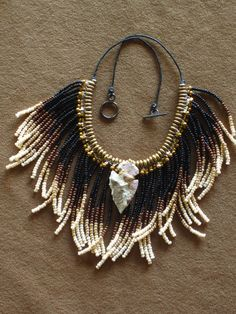 Native American style fringed beaded