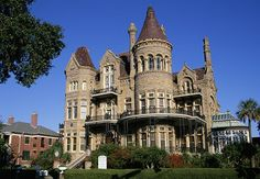 Bishop's Palace, Galveston, Texas The grandest among Galveston's trove of Gilded Age Victorians is railroad magnate Walther Gresham's chateau-esque stone-and-steel castle, built in Beautiful Castles, Beautiful Places, Castles In America, American Mansions, Art Nouveau, Castles To Visit, Castle Ruins, Victorian Architecture, Texas Travel