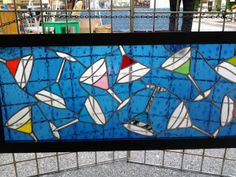 Stained Glass Martini Time by melglassworks on Etsy, $600.00
