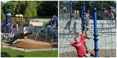 """Hyland Play Area is unofficially known as """"Chutes and Ladders Park"""" for the playground reminiscent of the board game! Lake Park, Nature Center, Ladders, Playgrounds, Park City, Minnesota, Board Games, Parks, Stairs"""