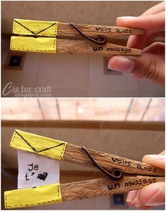 Tiny message in a clothespin