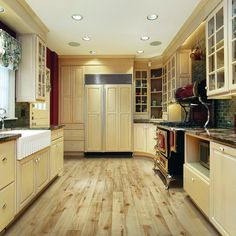 Shop Style Selections PLUS 5.23-in W x 3.93-ft L Rustic Honey Maple Smooth Laminate Wood Planks at Lowes.com