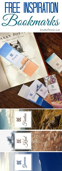 I am in love with these inspiration bookmark printables.  And the best part?  They're FREE!