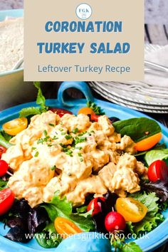 Coronation Turkey quickly transforms your leftover turkey into a classic to serve with salads and in sandwiches. An easy recipe and an excellent way to use your Thanksgiving or Christmas leftovers #turkey #leftovers #salad #sandwich #holidays #thanksgiving #christmas