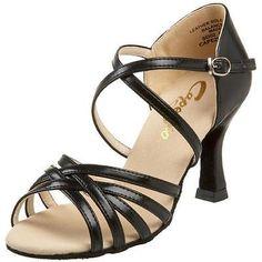 45d7cf5f7b4d Capezio 3375 Womens Rosa Black Leather Dance Shoes Heels 8 Wide (CDW) BHFO  Latin