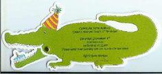 Alligator party invitations