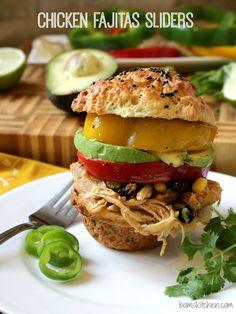 Chicken Fajitas Sliders/ GLUTEN-FREE/ http://bamskitchen.com