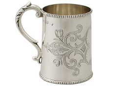 Sterling Silver Christening Mug - Antique Victorian  SKU: A5184 Price: GBP…