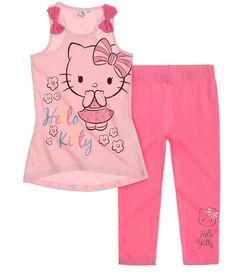 Hello Kitty T Shirt mit Leggings pink #Mädchen #Mode #Bekleidung #Girls #HelloKitty