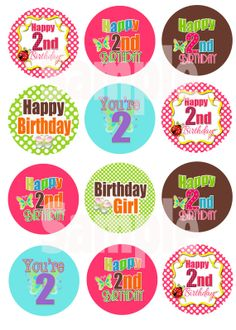 1.5 Cupcake TOPPER   4 X 6 Digital Collage Sheet by PatchScript, $1.75