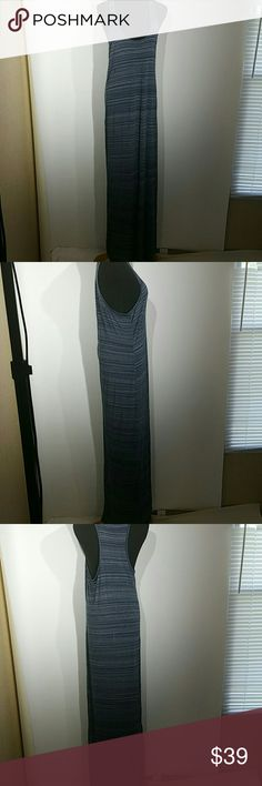 """VINCE RACER BACK MAXI DRESS SIZE M This dress is in great condition and makes for the perfect summer dress  Length 61"""" Armpit to Armpit 17"""" Vince Dresses Maxi"""