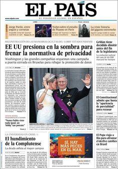 Los Titulares y Portadas de Noticias Destacadas Españolas del 22 de Julio de 2013 del Diario El País ¿Que le pareció esta Portada de este Diario Español?