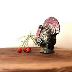 Vintage Turkey Candle Gurley style Thanksgiving by opendoorstudio, $12.00