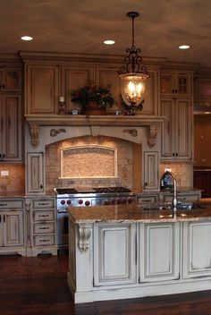 painted white with chocolate glaze This will be our kitchen cabinets one day by wanita.desrochers