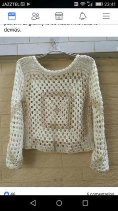 Crochet Summer Tops, Crochet Crop Top, Crochet Shawl, Crochet Baby, Crochet Clothes, Boho Chic, Crochet Patterns, Knitting, Trinidad