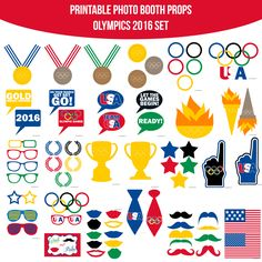 Instant Download Olympics 2016 Printable Photo Booth Prop Set — Amanda Keyt DIY Photo Booth Props & More!