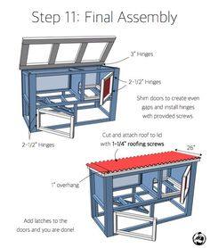 Free and easy DIY rabbit hutch plans that will show you just how to build a rabbit hutch with run that will not only look great but will be functional too! Rabbit Cages Outdoor, Rabbit Hutch Indoor, Rabbit Hutch Plans, Rabbit Hutches, Diy Bunny Hutch, Diy Bunny Cage, Bunny Cages, Rabbit Pen, Pet Rabbit