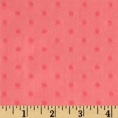 Jacquard Mini Dot Lace Melon from @fabricdotcom  Delicate and classic, this lace is very lightweight and sheer. With 25% stretch across the grain, this lace fabric appropriate for lingerie, overlays on skirts or dresses, feminine apparel accents, home decor accents, wraps or shrugs.