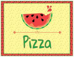 Watermelon - Menu cards - 6 pack