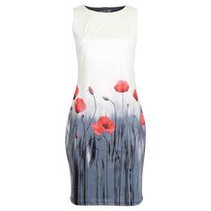 Voorjaars jurk May klaprozen mouwloos Smashed Lemon   Dresses Only